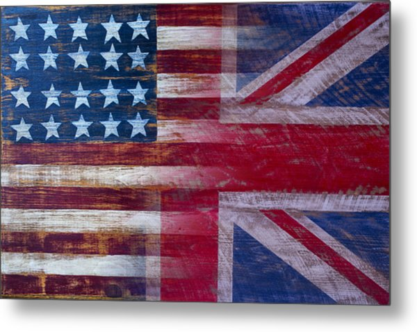 American British Flag Metal Print