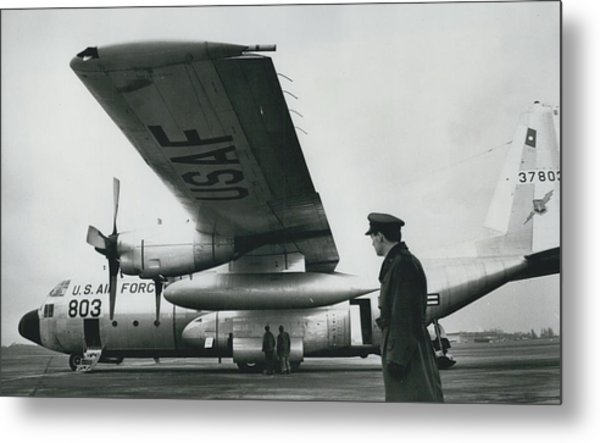 American C.130 E. Aircraft - Demonstrated For Air Force Metal Print by Retro Images Archive
