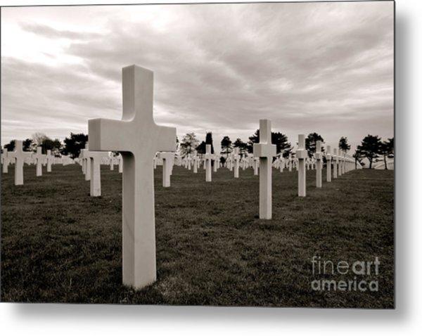 American Cemetery In Normandy  Metal Print