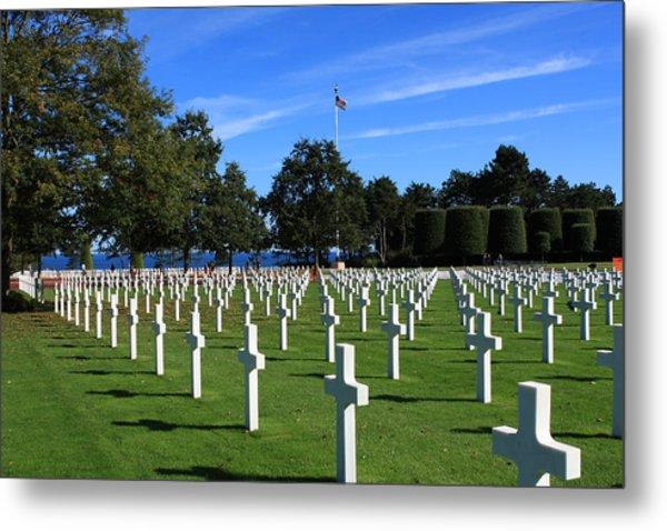 American Cemetery Normandy Metal Print