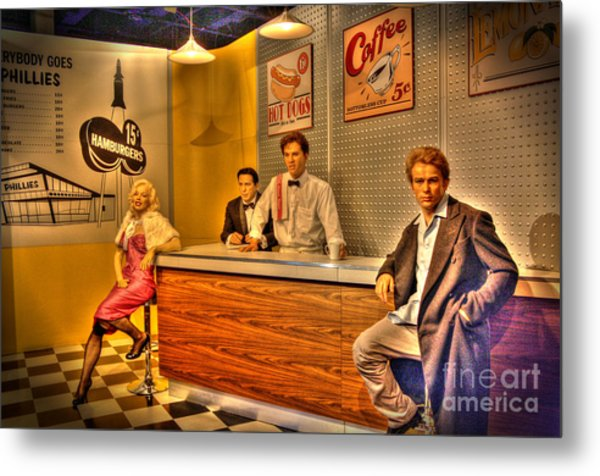 American Cinema Icons - 5 And Diner Metal Print