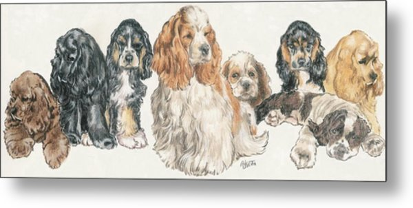 American Cocker Spaniel Puppies Metal Print