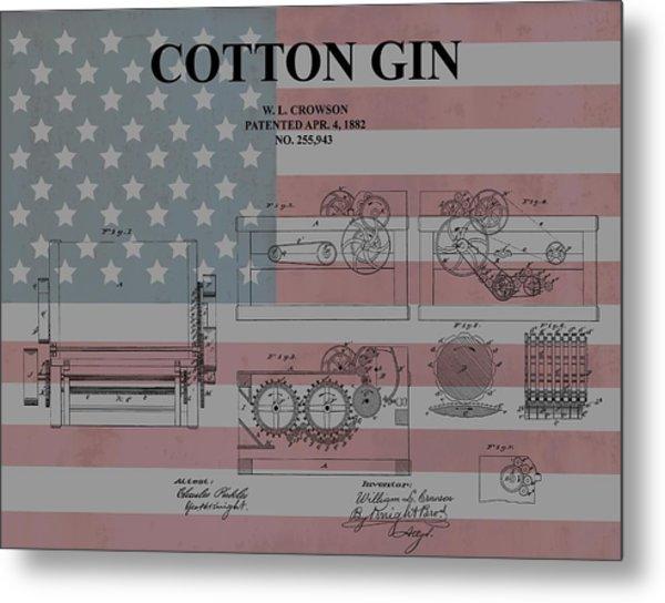 American Cotton Gin Patent Metal Print