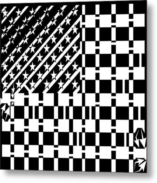 American Flag Maze  Metal Print by Yonatan Frimer Maze Artist