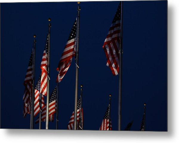 American Flags Metal Print by DustyFootPhotography