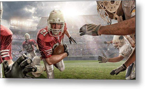 American Football Action Metal Print by Peepo