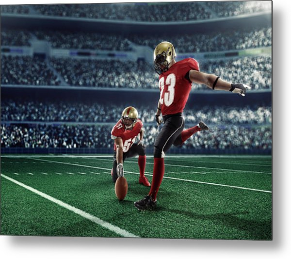American Football Kick Off Metal Print by Dmytro Aksonov