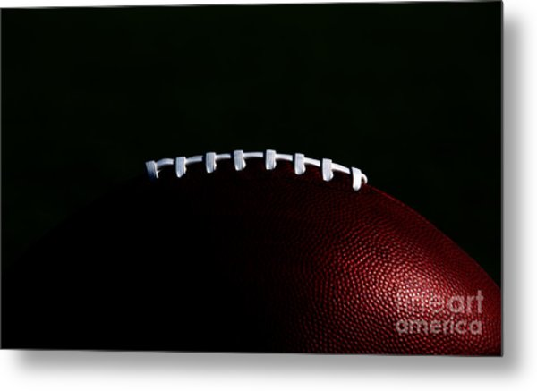 American Football Laces Metal Print
