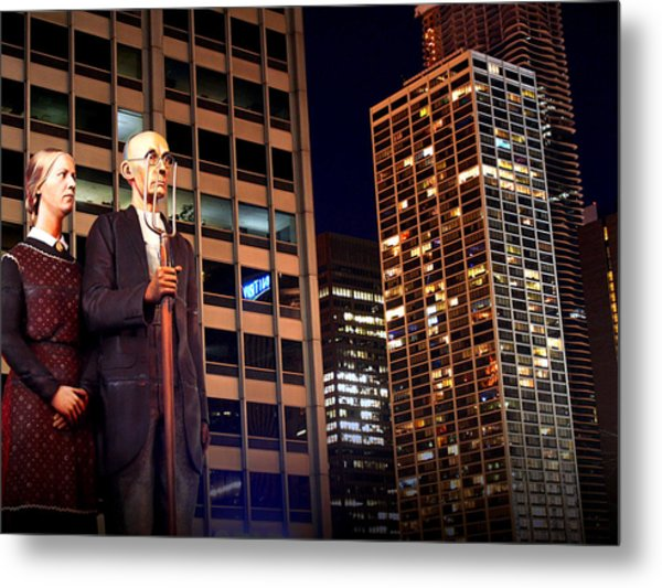 American Gothic In Chicago Metal Print