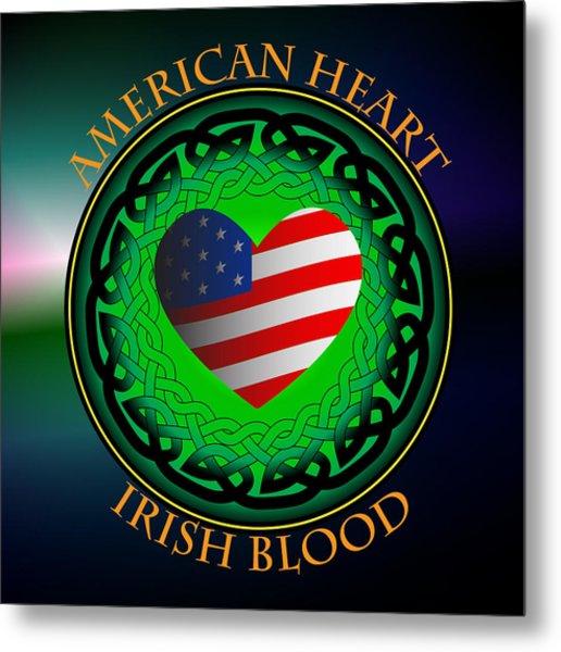 American Heart Irish Blood Metal Print