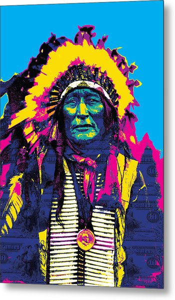 American Indian Chief Metal Print