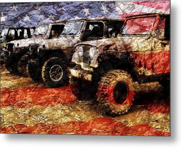 American Jeeps Metal Print