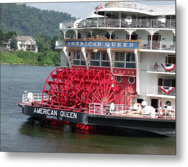 American Queen Paddlewheel Metal Print by Willy  Nelson