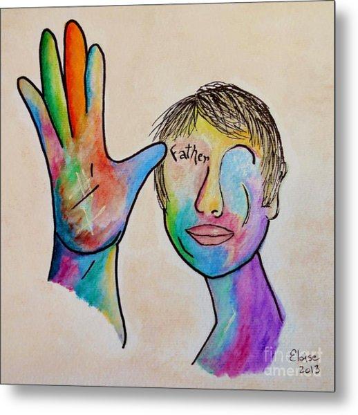 American Sign Language  Father Metal Print