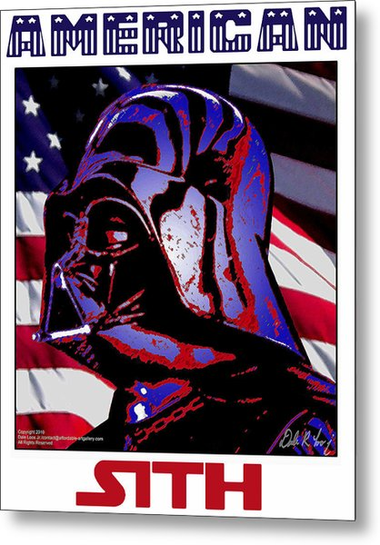 Metal Print featuring the digital art American Sith by Dale Loos Jr