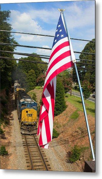 American Train 2 Metal Print