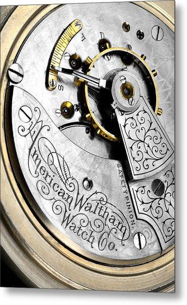 Antique Pocket Watch Metal Print