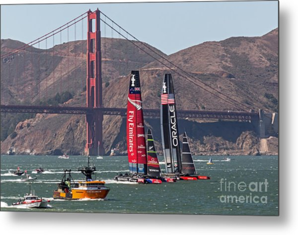 Metal Print featuring the photograph Americas Cup At The Gate by Kate Brown