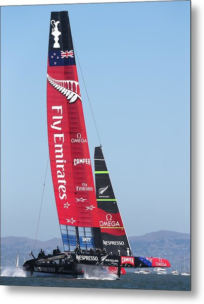 America's Cup Emirates Team New Zealand Metal Print by Steven Lapkin