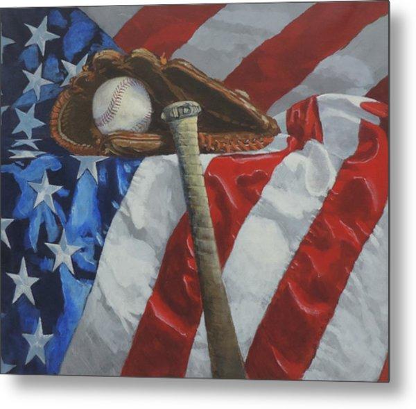 America's Game - Art By Bill Tomsa Metal Print