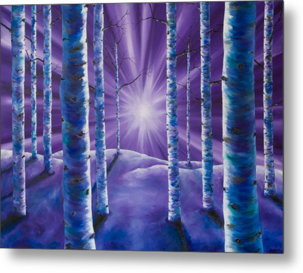 Amethyst Winter Metal Print