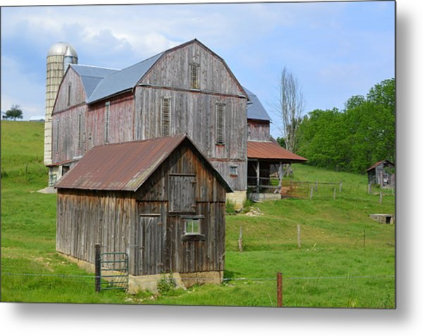 Amish Barn #2 - Woodward Pa Metal Print