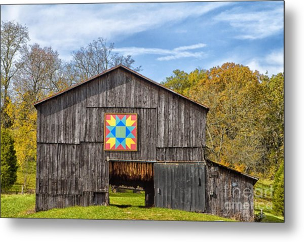 Amish Barn With Hex Metal Print