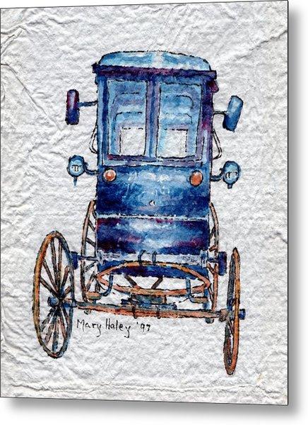 Amish Cart Metal Print