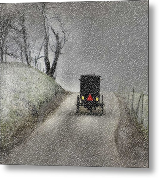 Amish Christmas Metal Print