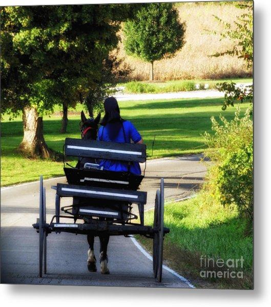 Amish Lady #2 Metal Print