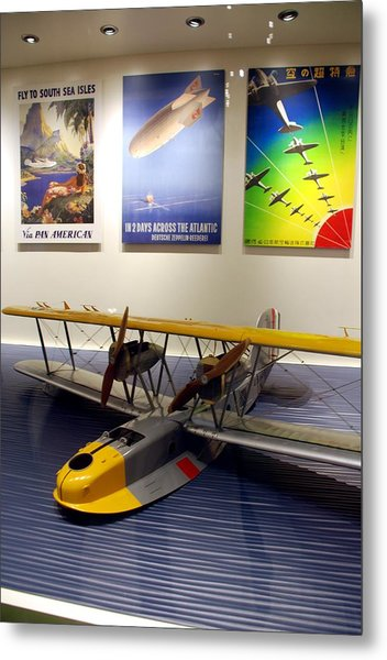 Amphibious Plane And Era Posters Metal Print
