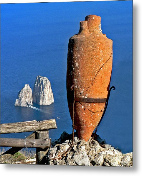 Amphora On The Island Of Capri 2 Metal Print