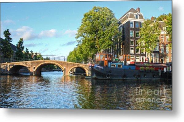 Amsterdam Canal Bridge Metal Print by Gregory Dyer