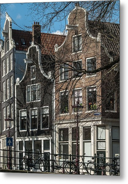 Amsterdam Canal Houses #1 Metal Print