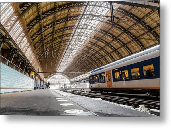 Amsterdam Centraal Railway Station Metal Print