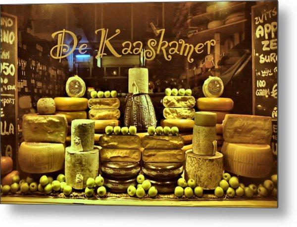 Amsterdam Cheese Shop Metal Print