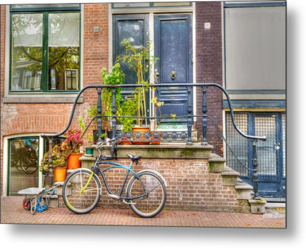 Amsterdam Facade Metal Print