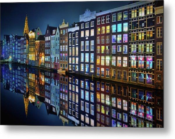 Amsterdam Mirror. Metal Print