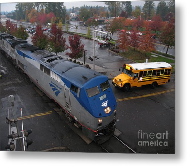 Amtrak 122 In Salem Metal Print