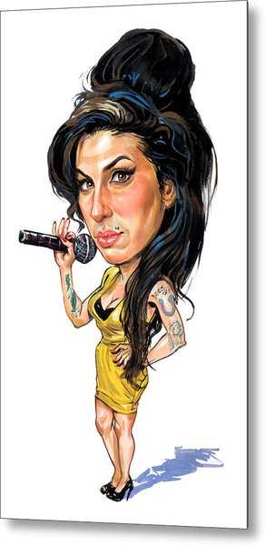 Amy Winehouse Metal Print by Art