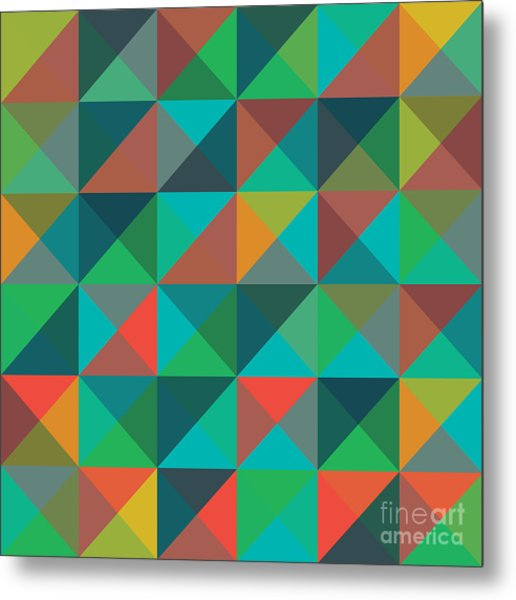 An Abstract Geometric Vector Pattern Metal Print by Mike Taylor