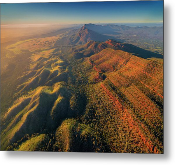 An Aerial View Of The Southern Flinders Metal Print by Southern Lightscapes-australia