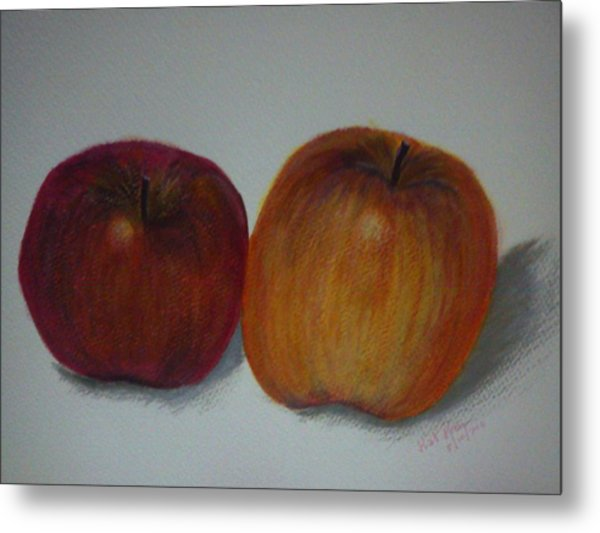 An Apple A Day Metal Print by Kat Poon