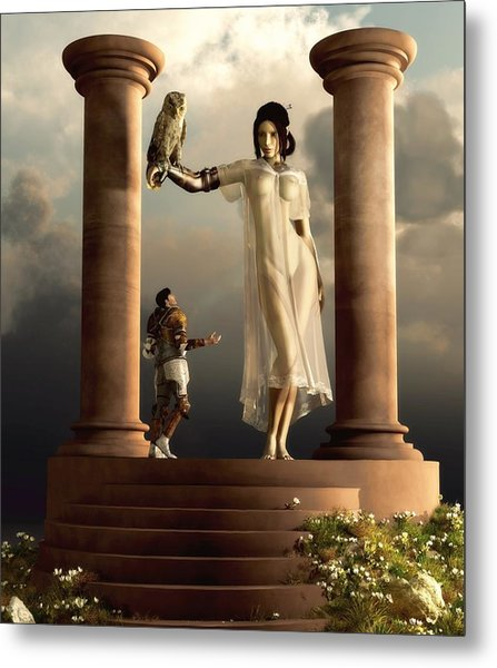 An Audience With Athena Metal Print
