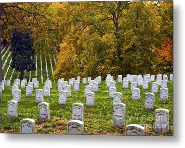 An Autumn Day In Arlington Metal Print