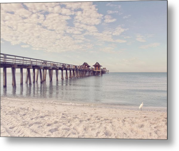 An Early Morning - Naples Pier Metal Print