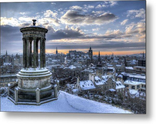 An Edinburgh Winter Metal Print