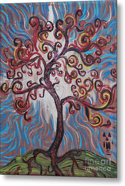 An Enlightened Tree Metal Print