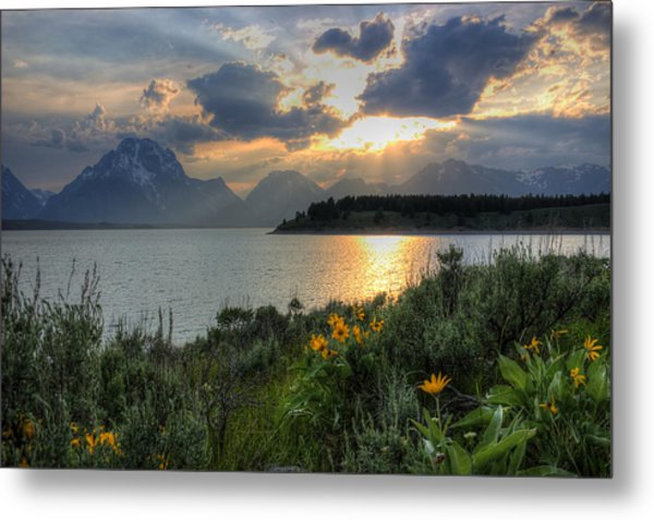 An Evening At Jackson Lake Metal Print