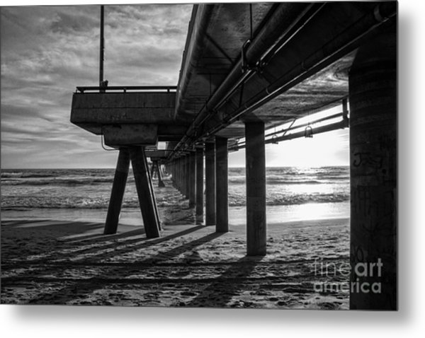 An Evening At Venice Beach Pier Metal Print
